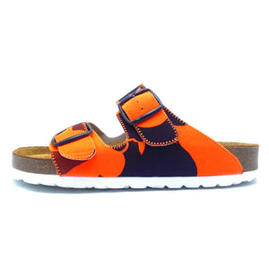 Thora 2-buckle Sandals | Orange Camouflage