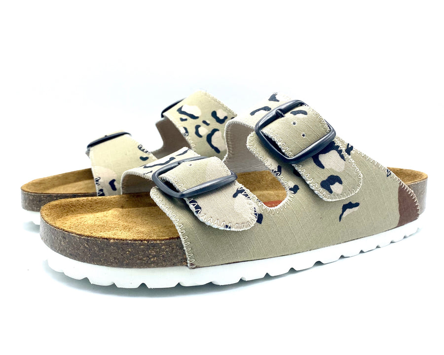 Thora 2-buckle Sandals | Chocolate Chip Camouflage - MAGNAFIED.COM