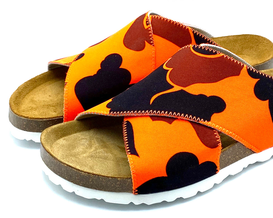 Una Cross-over Sandals | Blaze Orange Camo