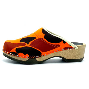 Embla Clogs | Blaze Orange Camouflage