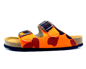 Thor 2-buckle Slide Sandals | Orange Camo - MAGNAFIED.COM