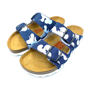 Thora 2-buckle Slide Sandals | Denim White MagnafiedCamo - MAGNAFIED.COM