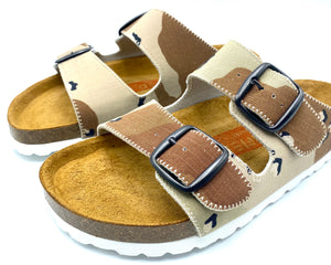 Thora 2-buckle Sandals | Chocolate Chip Camo