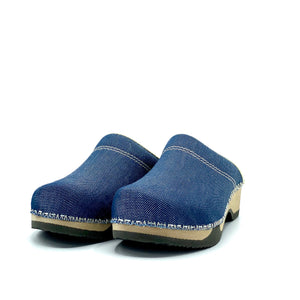Embla Clogs | Japanese Raw Denim - MAGNAFIED.COM