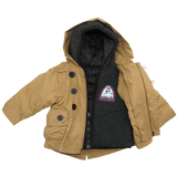 Boys 4 In 1 Cozy Sherpa Hooded Microfiber Parka