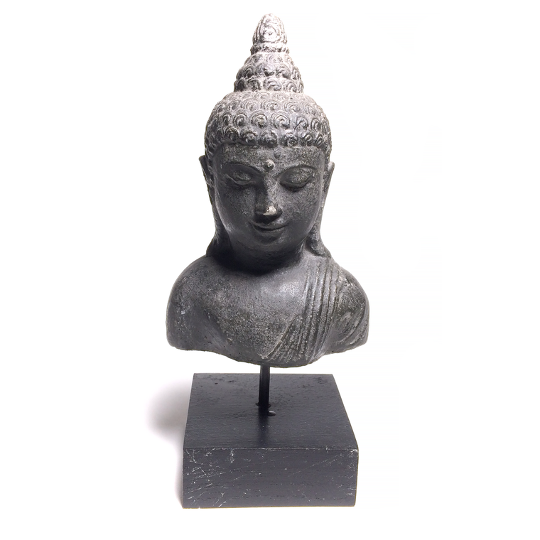 Solid Carved Buddha On A Stand
