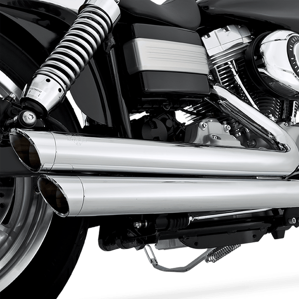 Vance & Hines Big Shots Staggered 2-into-2 Exhaust (Harley Dyna & Softail) - Rocket Bobs Cycle Works