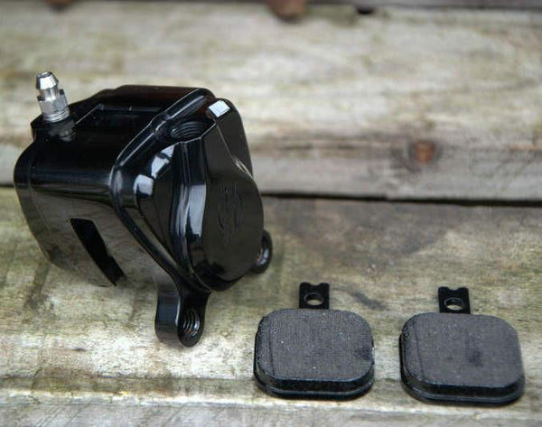 Mini Billet 2 Piston Race Caliper - Rocket Bobs Cycle Works