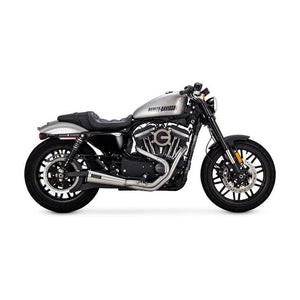 Vance & Hines Stainless Upsweep 2-Into-1 Exhaust System (Harley Dyna, Softail & Sportster) - Rocket Bobs Cycle Works