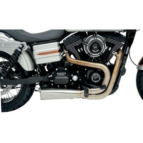 Vance & Hines Competition Series 2-Into-1 Exhaust (Harley Dyna & Sportster) - Rocket Bobs Cycle Works