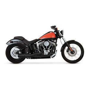 Vance & Hines Hi-Output 2-Into-1 Short Exhaust (Harley Dyna & Softail) - Rocket Bobs Cycle Works