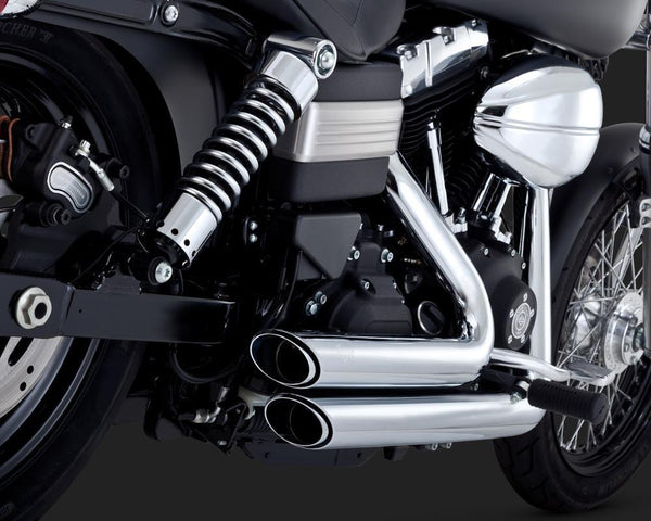 Vance & Hines Shortshots Staggered 2-into-2 Exhaust (Harley Dyna, Softail & Sportster) - Rocket Bobs Cycle Works