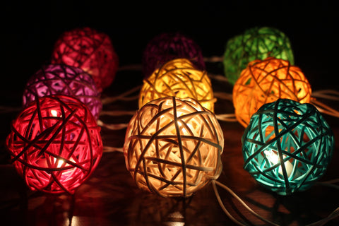 Prism fairy lights - colourful