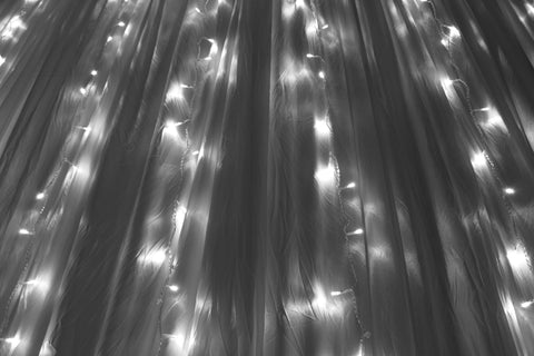 Curtain lights white - river of stars