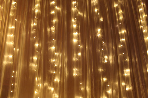 Curtain lights warm white - river of stars