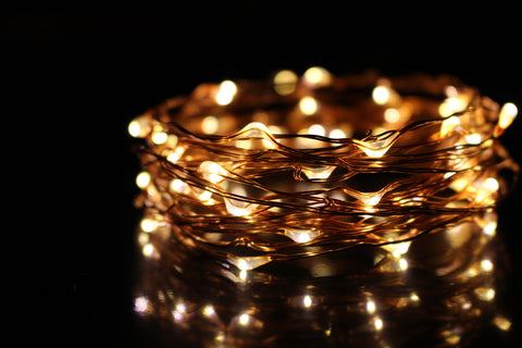 copper wire fairy lights - warm white (coil)