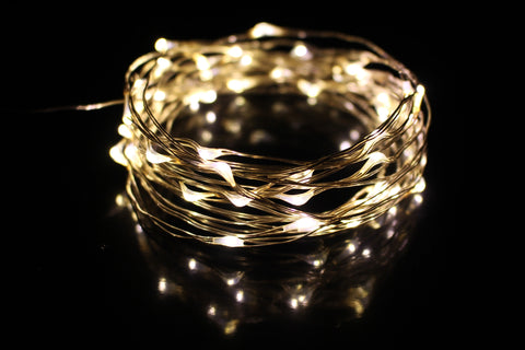 Ring of fire - Silver Wire fairy lights