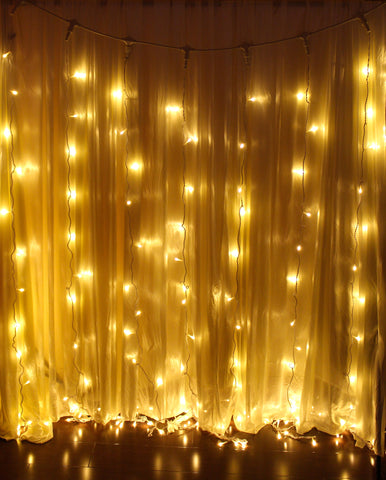 White Detachable Curtain Lights (Warm White)