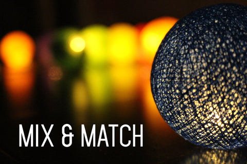 Customize your fairy lights with Mix and Match!