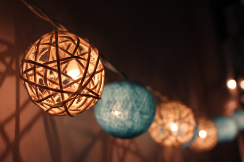 Baby Hues fairy lights - hanging