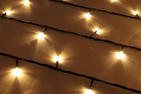 Green String Fairy Lights (Warm White)