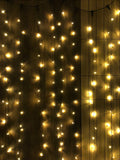 Black Detachable Curtain Lights (Warm White)