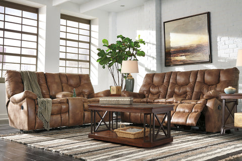 Ashley Recliner Leather Sofa