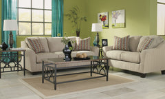 ASHLEY 6 SEATER FABRIC SOFA SET (3+2+1) STONE