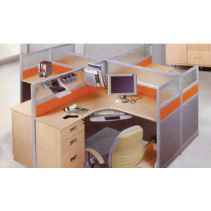 4 Way Workstation 1.4meters - LY-215