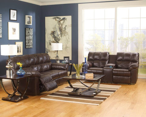 ASHLEY 6 SEATER (3+2+1) LEATHER RECLINER SOFA SET WITH CONSOLE (Model:2900125)
