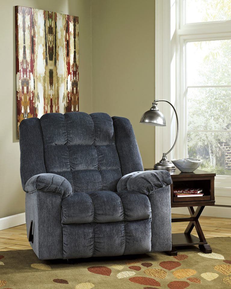 ASHLEY SINGLE FABRIC ROCKER RECLINER (GREY) Model:8110525