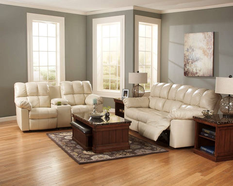 ASHLEY 6 SEATER (3+2+1) LEATHER RECLINER SOFA SET WITH CONSOLE