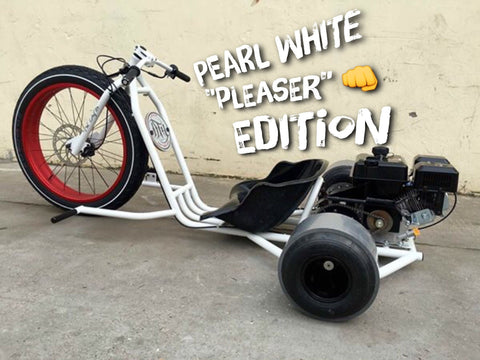 "READY TO GO - FAT DRIFTER - PEARL WHITE ""PLEASER"" EDITION - Lovett Industries"