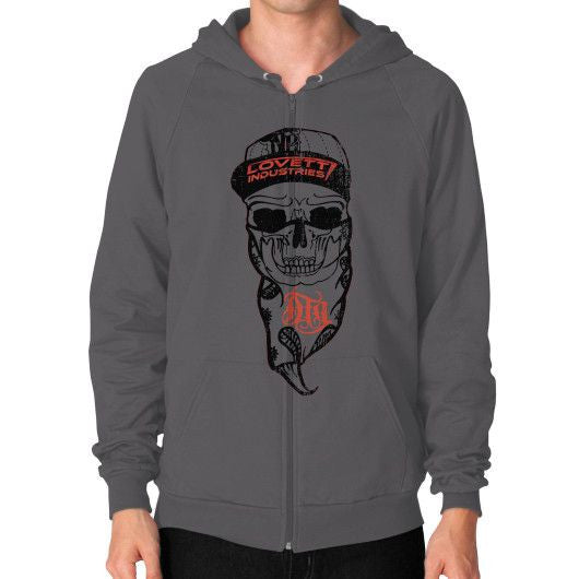 "MENS ""DTG SKULL"" Zip Hoodie - Lovett Industries"