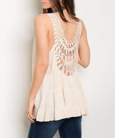 Sheer Ruffled Blouse