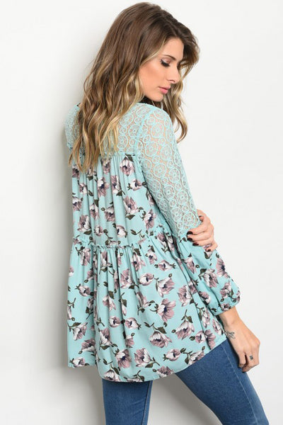 Spring Blooms Blouse Tunic