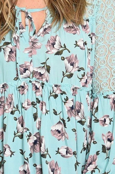 Spring Blooms Tunic Blouse