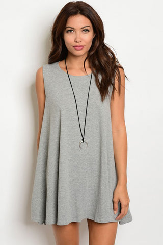 Gray Tunic Mini Dress