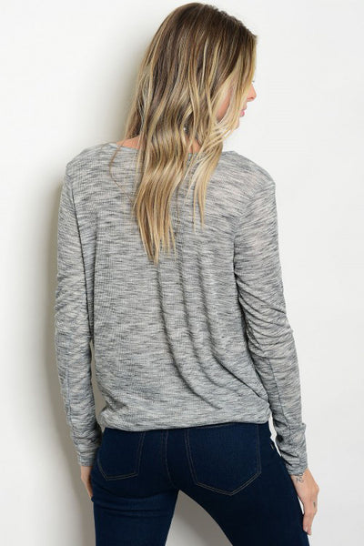 Heathered Crisscross Top