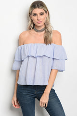 Off The Shoulder Cropped Blouse