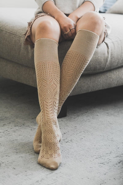 Pointelle Boot Socks
