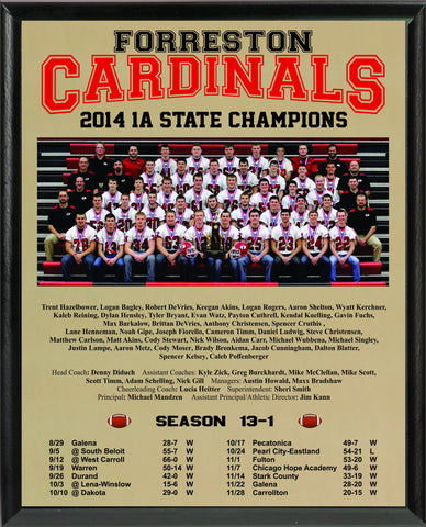 2014 State Football Commemorative Plaque