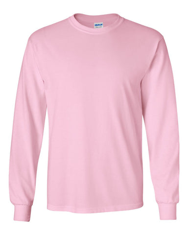 2.  Light Pink Long Sleeve T-Shirt