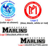 MS16-Marlins Eco Pacific Blue Ladies Tank