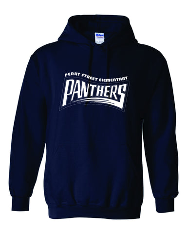 P03 Perry Navy Blue Hoodie with White Logo
