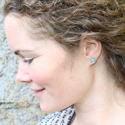 Forget Me Not Stufs by Adele Stewart - Rata Jewellery
