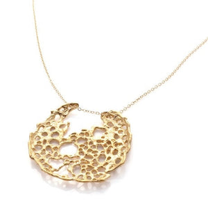 Sea Lace Pendant - Gold by Louise Douglas - Rata Jewellery
