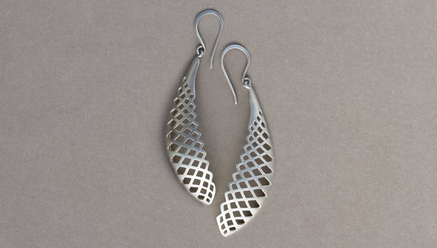 Wing Earrings by David Trubridge - Rata Jewellery