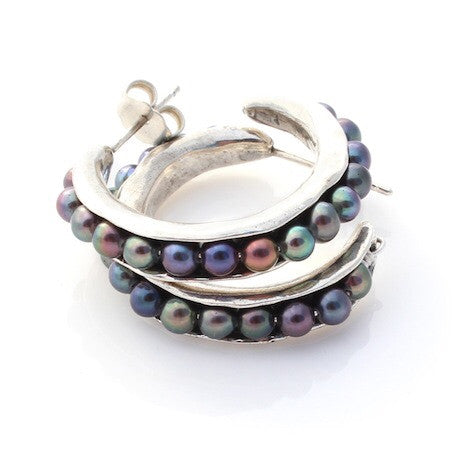Small Sea Pod Hoops by Louise Douglas - Rata Jewellery