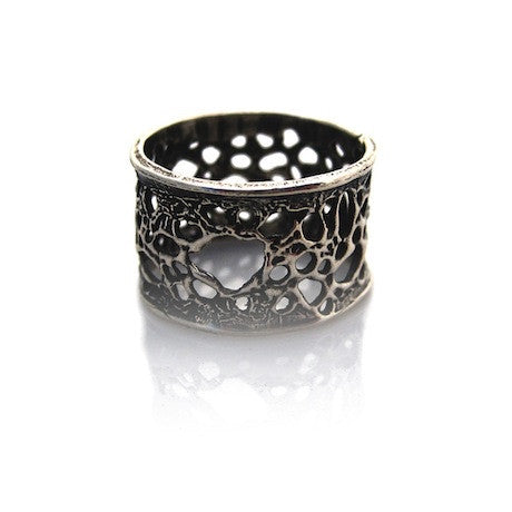 Sea Lace Ring - Silver by Louise Douglas - Rata Jewellery